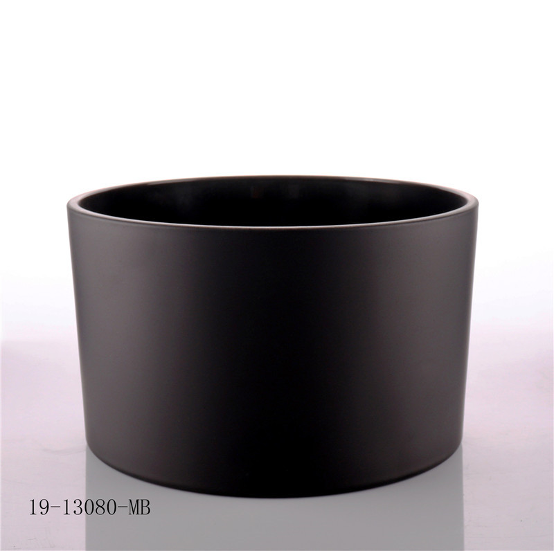 Matt Black Big Size Glass Jar For Candle Making