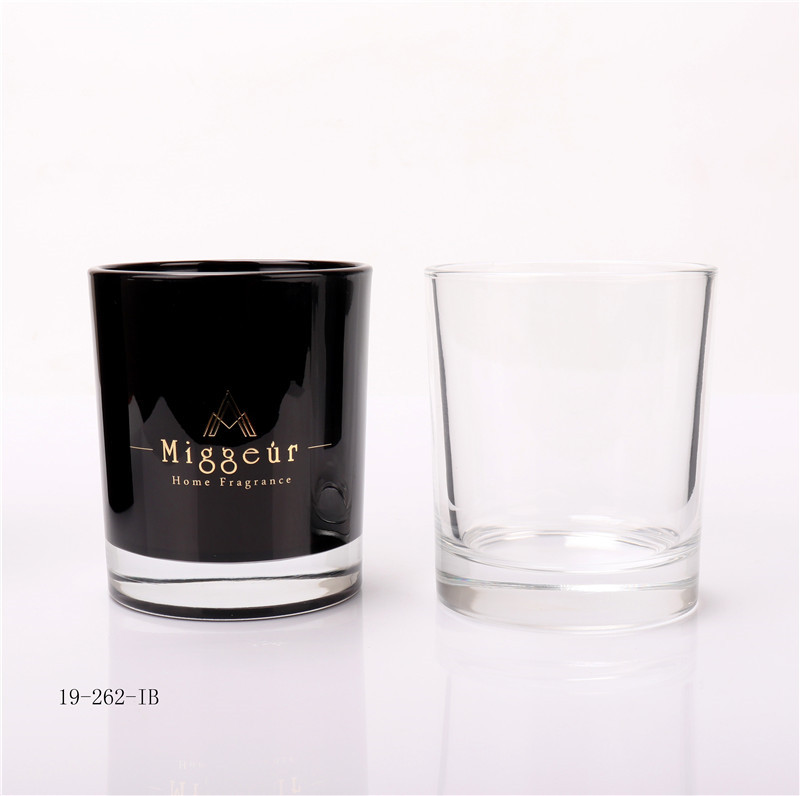 Matt Black Candle Glass Jar