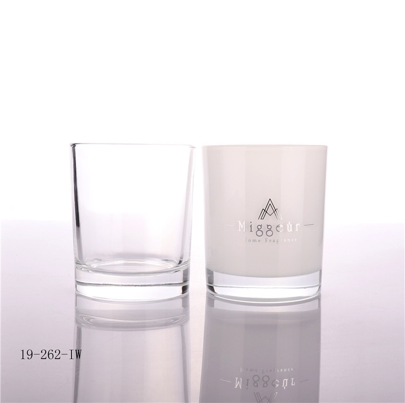 Silver hot stamping Candle Glass Jar manufacturer