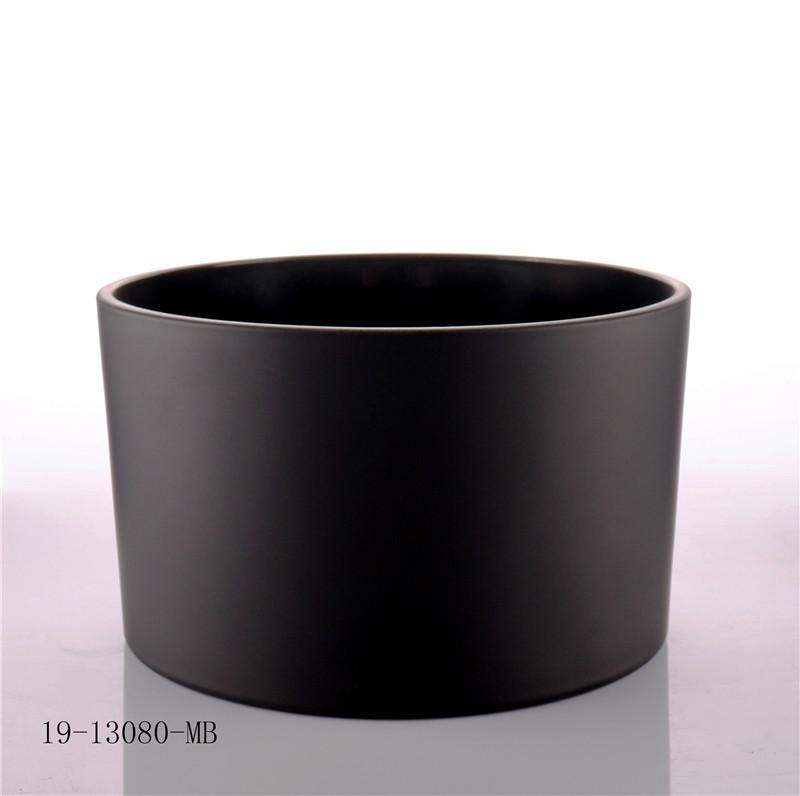 Metal Black Lid Candle Glass Jar wholesale