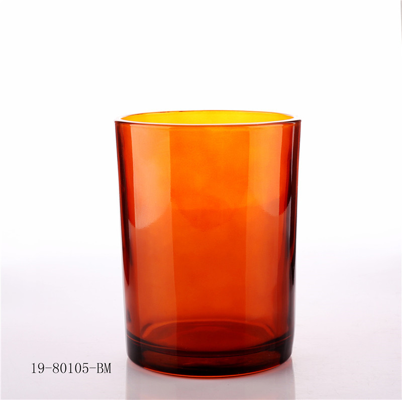 9oz empty ember glass candle jar with wooden lid