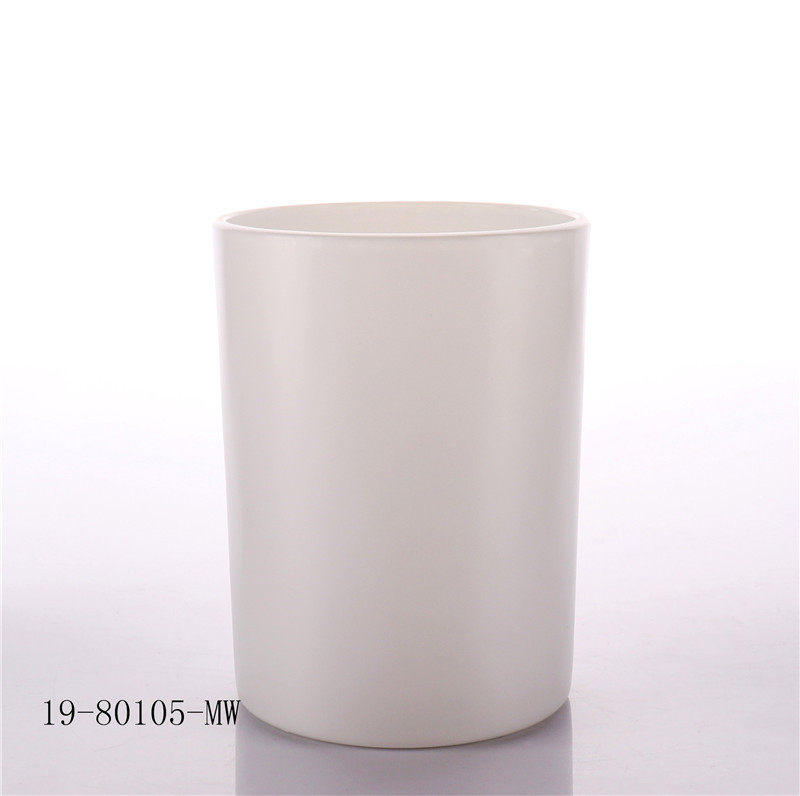 Metal White Lid Candle Glass Jar wholesale