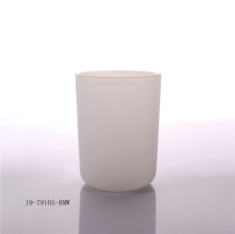 Empty Glass Candle Jar With Wooden Lid