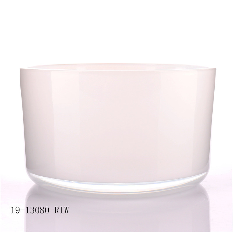 Large Size Glass Candle Jar With Round Bottom