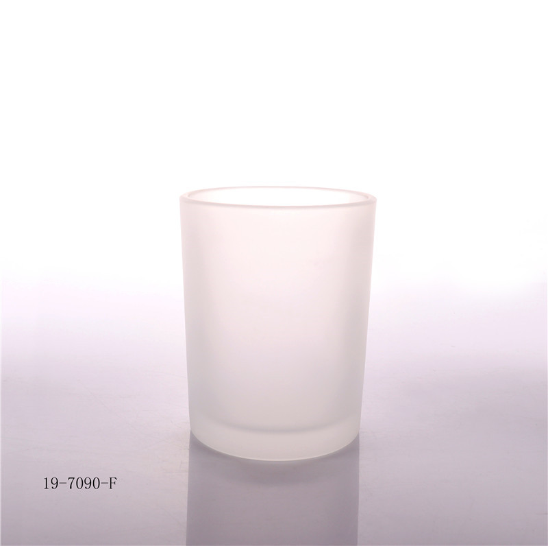 Frosted Candle Glass Jar For Candle Making
