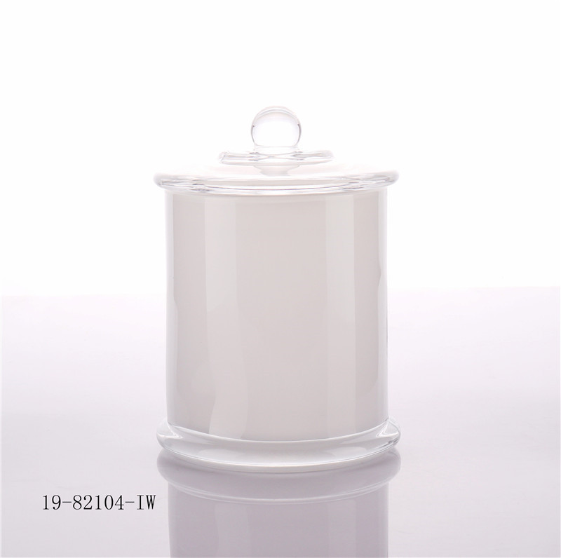 Hot Sale Glass Candle Cup Holder With Glass Lids China Supplier