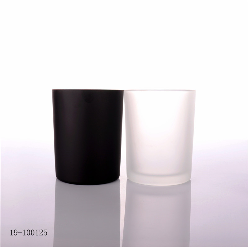 Luxury Frosted Round Empty Candle Glass Jar