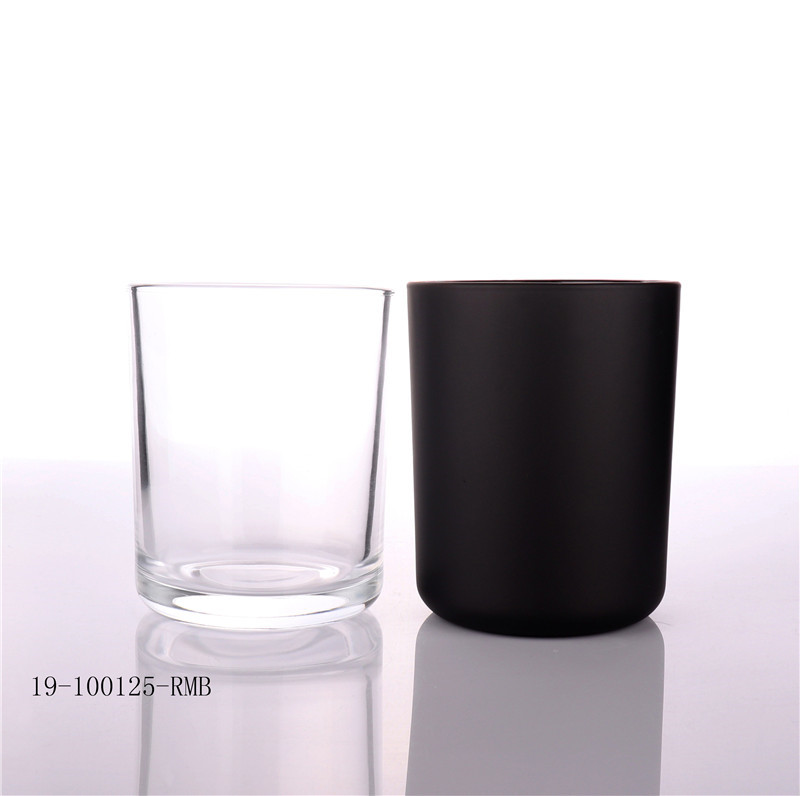 Hot Sale Black Candle Glass Jar