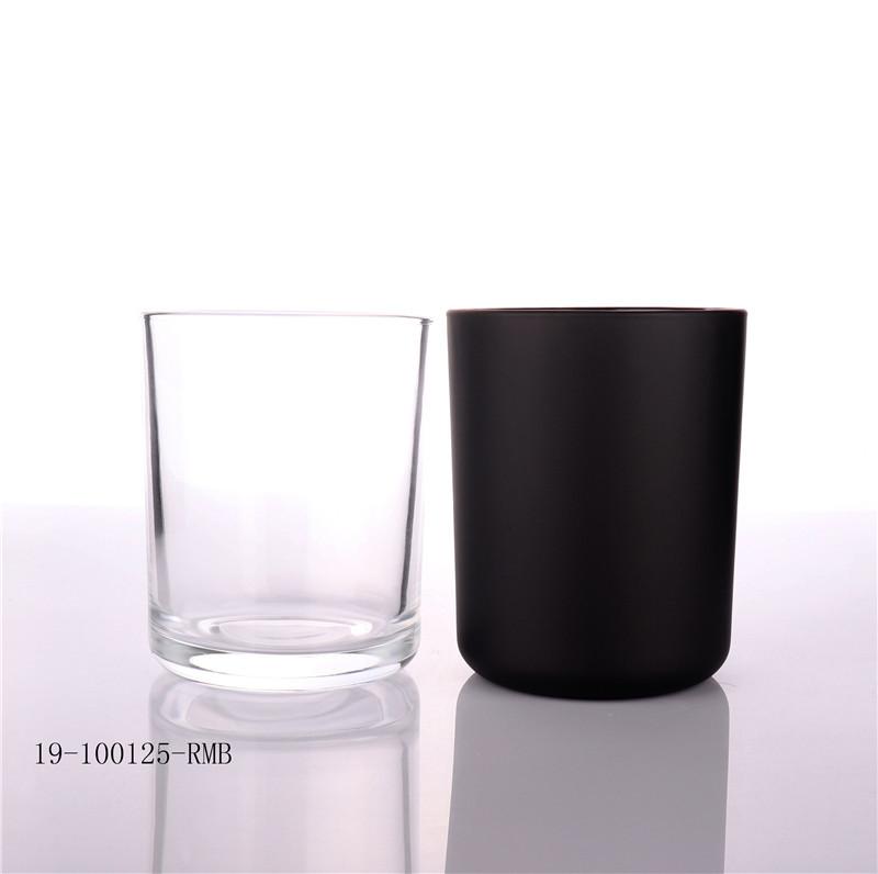 Hot Sale Black Candle Glass Jar