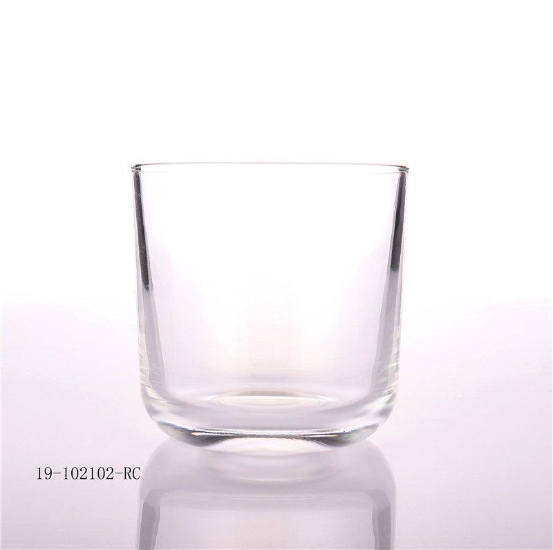 11oz Empty Matt Black Round Bottom Candle Glass Jars
