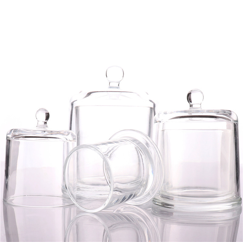 BOYE Wholesale Luxury Home Decoration 9oz Empty Candle Glass Jar With Dome Lid