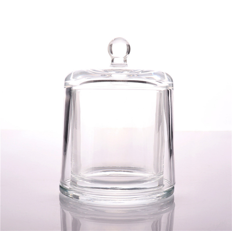 BOYE Wholesale Luxury Home Decoration Candle Glass Jar With Cloche Lid Dome For Candles