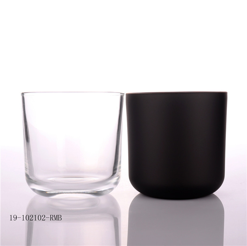 Empty Glass Candle Jars With Round Bottom For Candle Making