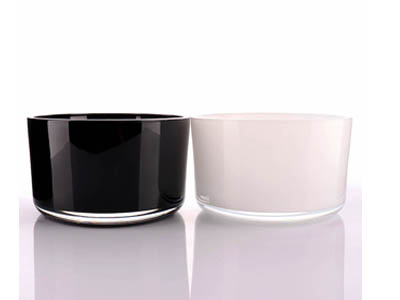 White and Black Candle Jars