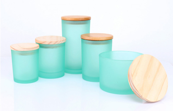 Frosted Candle Jars
