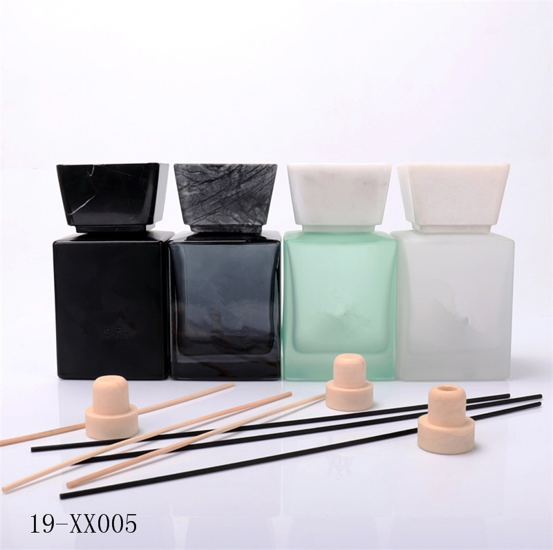 500ml Fancy Green Empty Diffuser Bottle With White March Cap