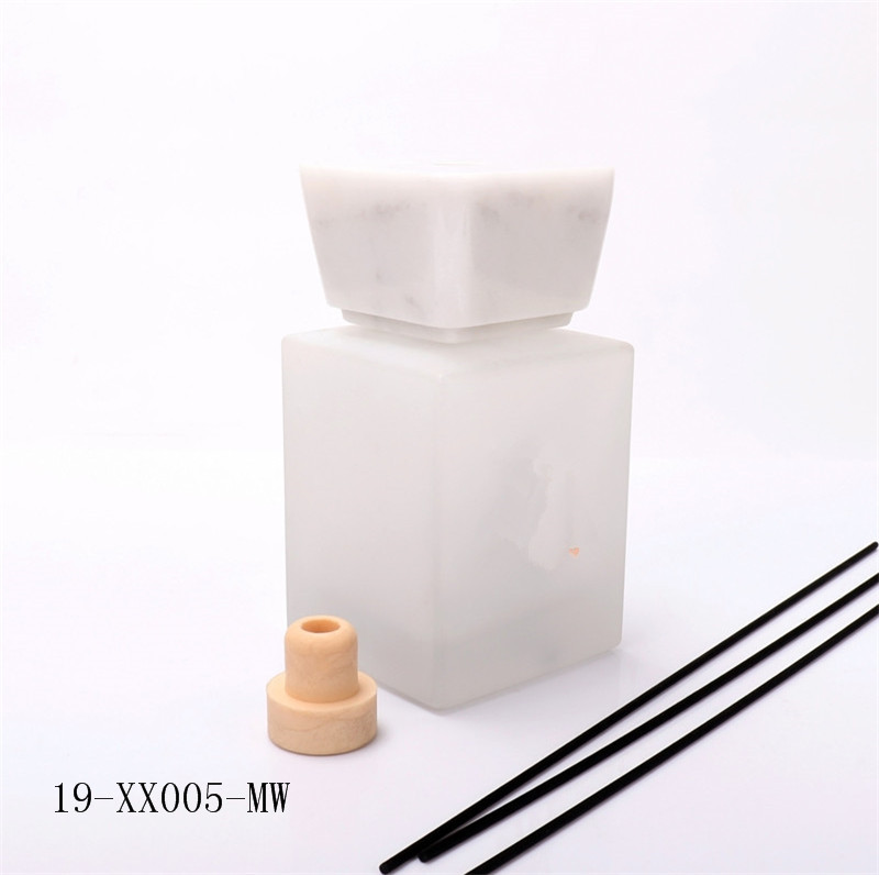 Luxury 500ml Empty Diffuser Bottle With Marble Lid