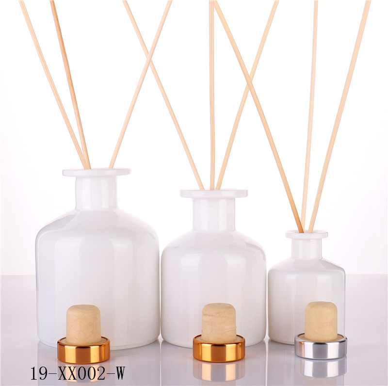 BOYE Hot Sale Matt White Empty Diffuser Glass Bottle