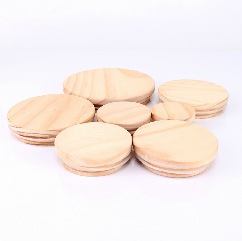 Wooden Lid for Candle Glass Jar
