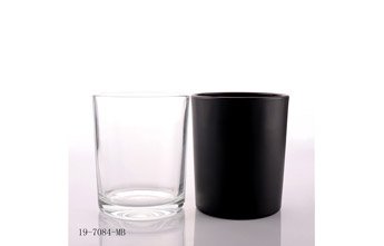 How to solve the friction on the surface of Matt Black Candle Glass Jar?