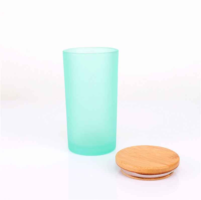 Luxury Custom Logo Printing Glass Candles Jars With Bamboo Lids