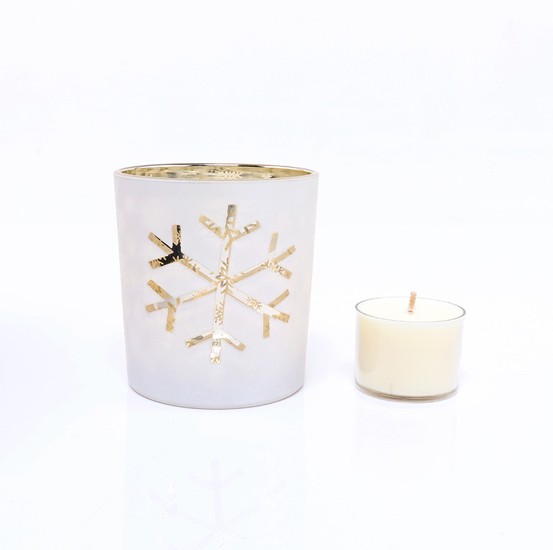 BOYE Luxury Christmas Snowflake Candle Glass Jar Wholesale