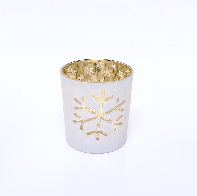 BOYE Luxury Christmas Snowflake Candle Glass Jar Wholesale
