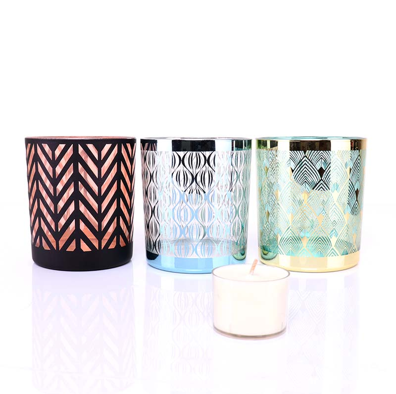 BOYE Luxury Unique Design Candle Glass Jar For Candle Making