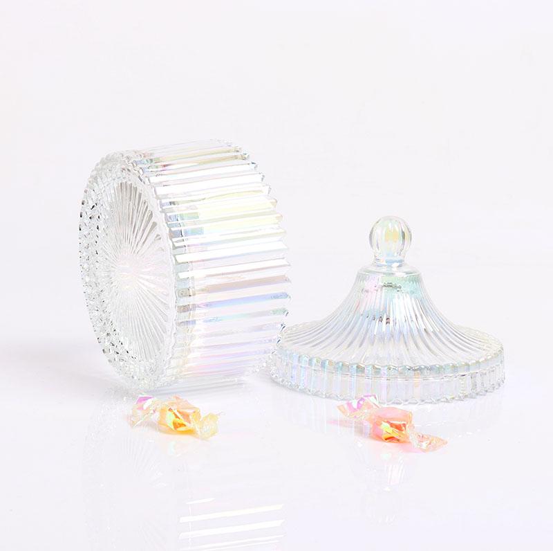 BOYE Luxury Light Iridescent Mongolian Yurt Large Scented Candle Glass Jars