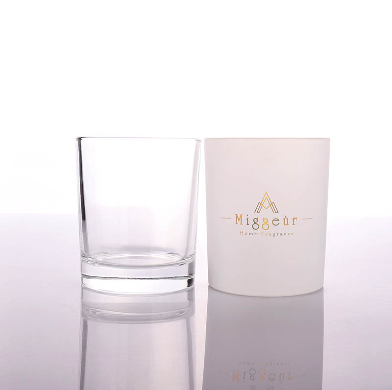 7oz Luxury Pink Blue Candle Glass Jar