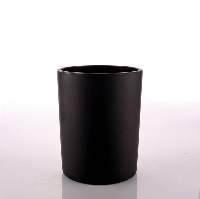 Luxury Black Glass Jar for Candle Making