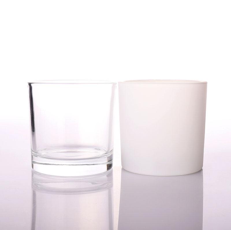 Matt Black Glass Jar for Candle Making