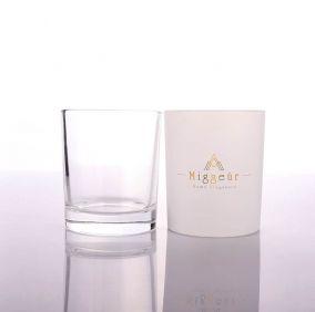 Personalized Matt White Candle Glass Jar