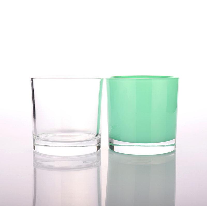 Fancy Green Candle Glass Jar Wholesaler