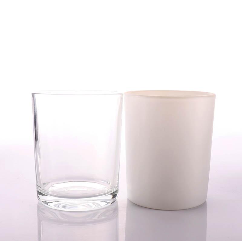 Matt Black Candle Glass Jar with Bamboo Lid