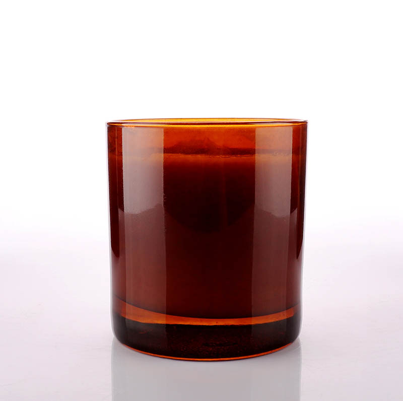 8oz Amber Glass Jar For Candle Making