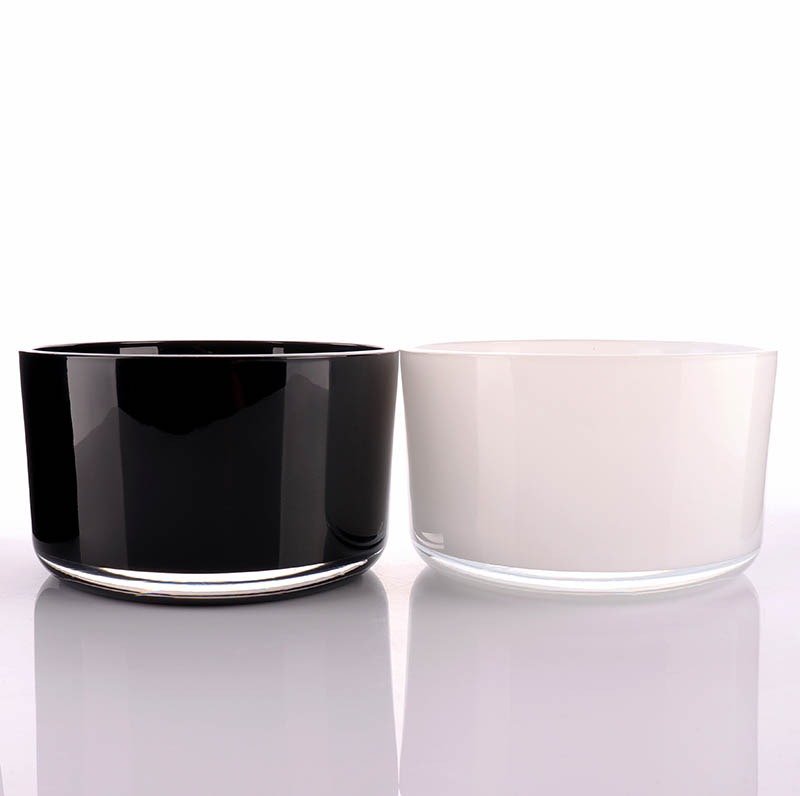 Luxury Black Candle Glass Jar For Scented Candle