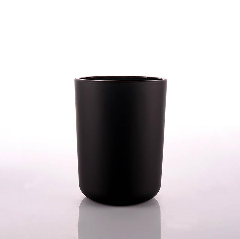 Luxury OEM Black Glass Candle Jars Wholesale