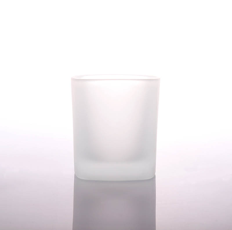 Luxury Frosted Empty Glass Candle Jar Wholesale