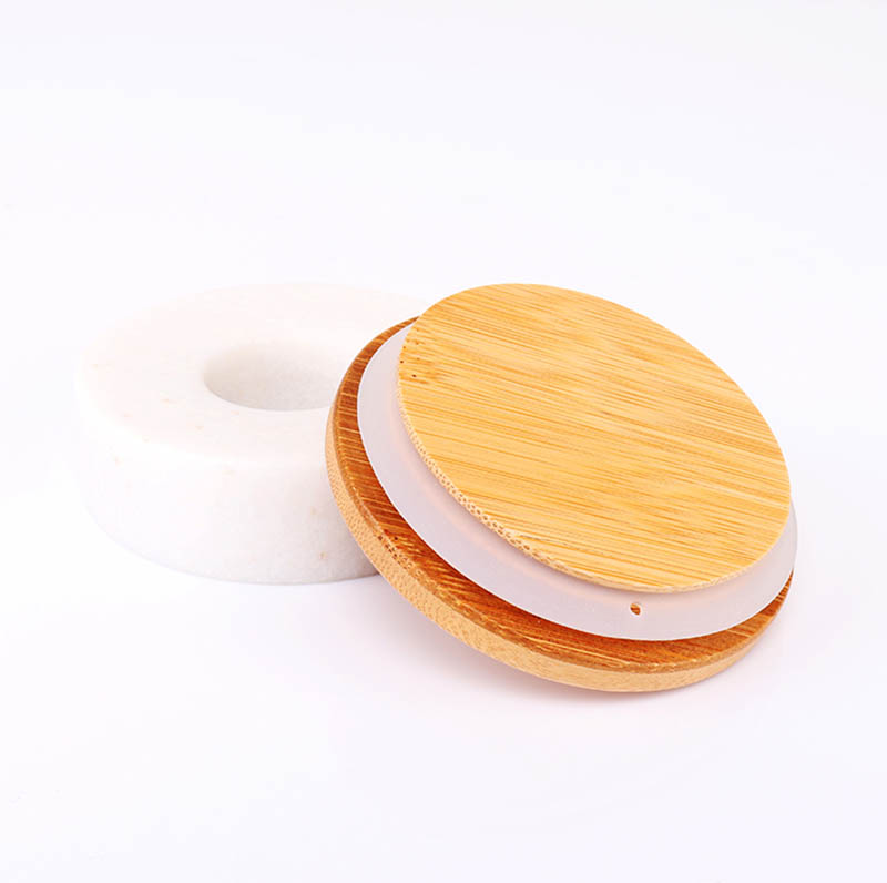 Environmental Friendly Bamboo Lids For Glass Candle Jars
