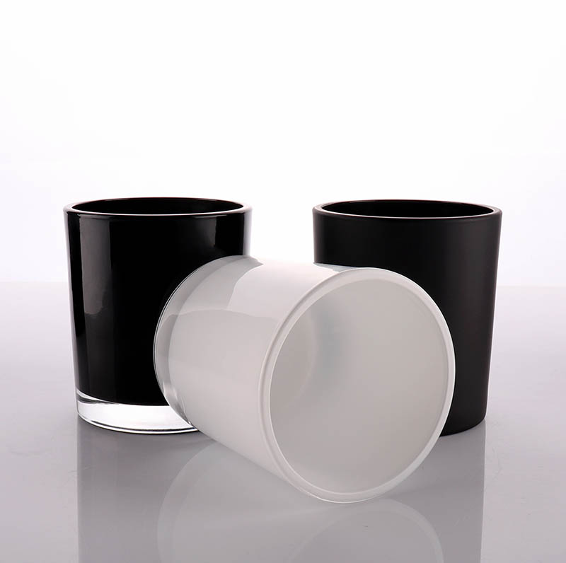 Luxury Black Glass Container For Candle Making In Bulk