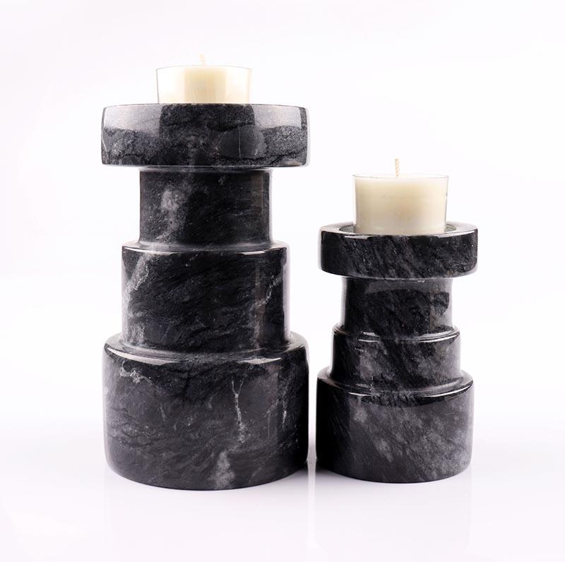 Luxury Black Marble Candle Holder Manufactory